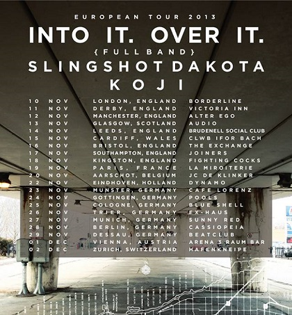 Into It. Over It. Announce UK/European Tour With Slingshot Dakota And Koji
