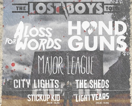 A Loss For Words, Handguns Co-Headlining Tour With Major League, Light Years, Stickup Kid