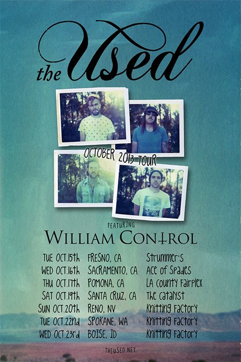 The Used, William Control Announce Fall Tour