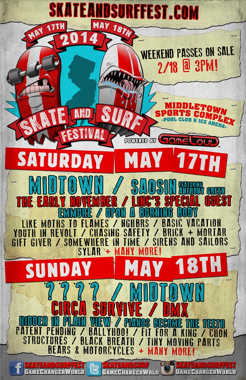 2014 Skate And Surf Festival Lineup