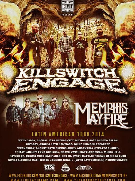 Killswitch Engage, Memphis May Fire Announce Latin America Tour