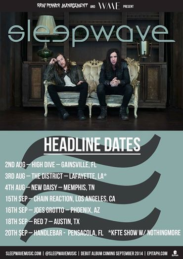Sleepwave Announce US Headlining Tour Dates With Nothing More
