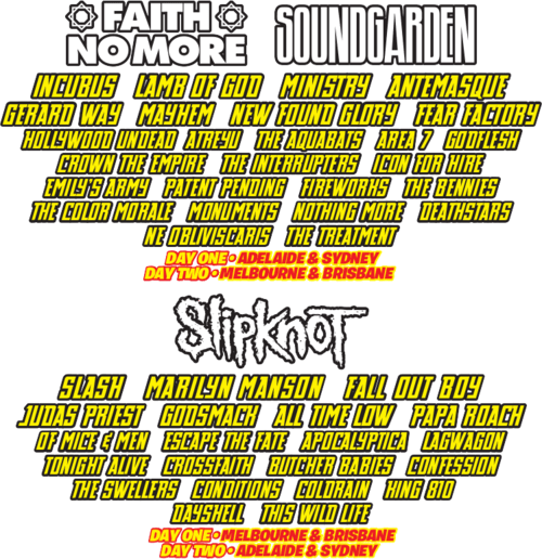 Soundwave Festival Announces 2015 Lineup