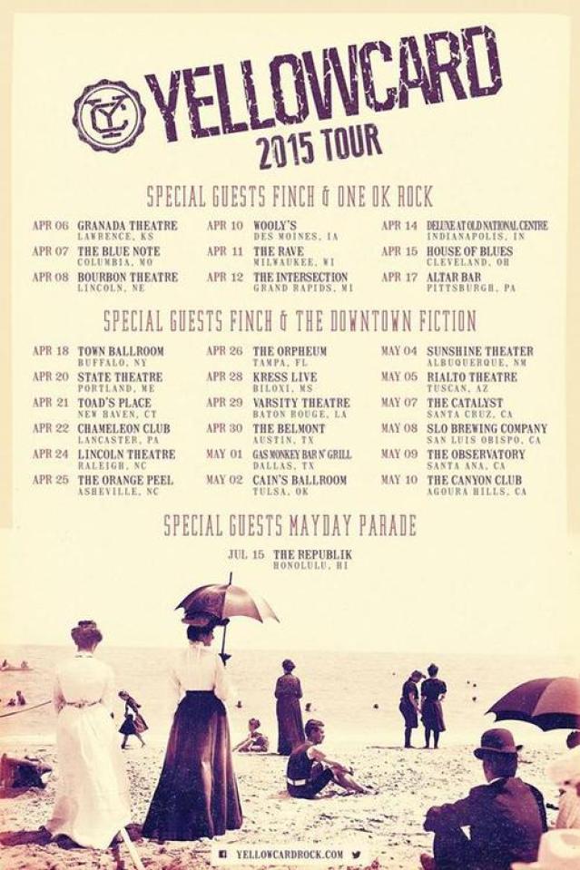 Yellowcard, Finch Announce North American Tour