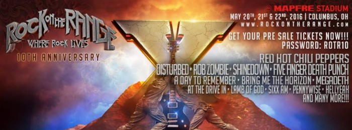 Red Hot Chili Peppers, Disturbed, Rob Zombie Lead 2016 Rock On The Range Festival