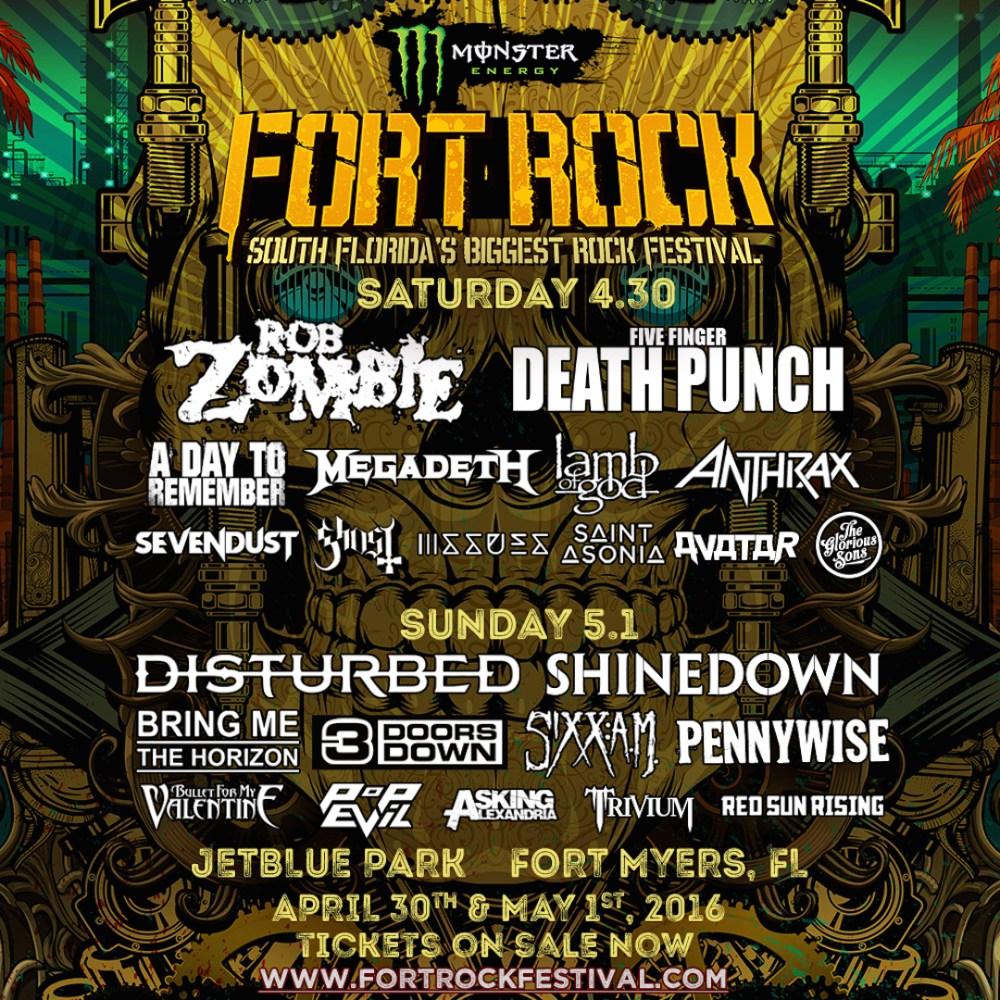 Monster Energy Fort Rock Festival 2016