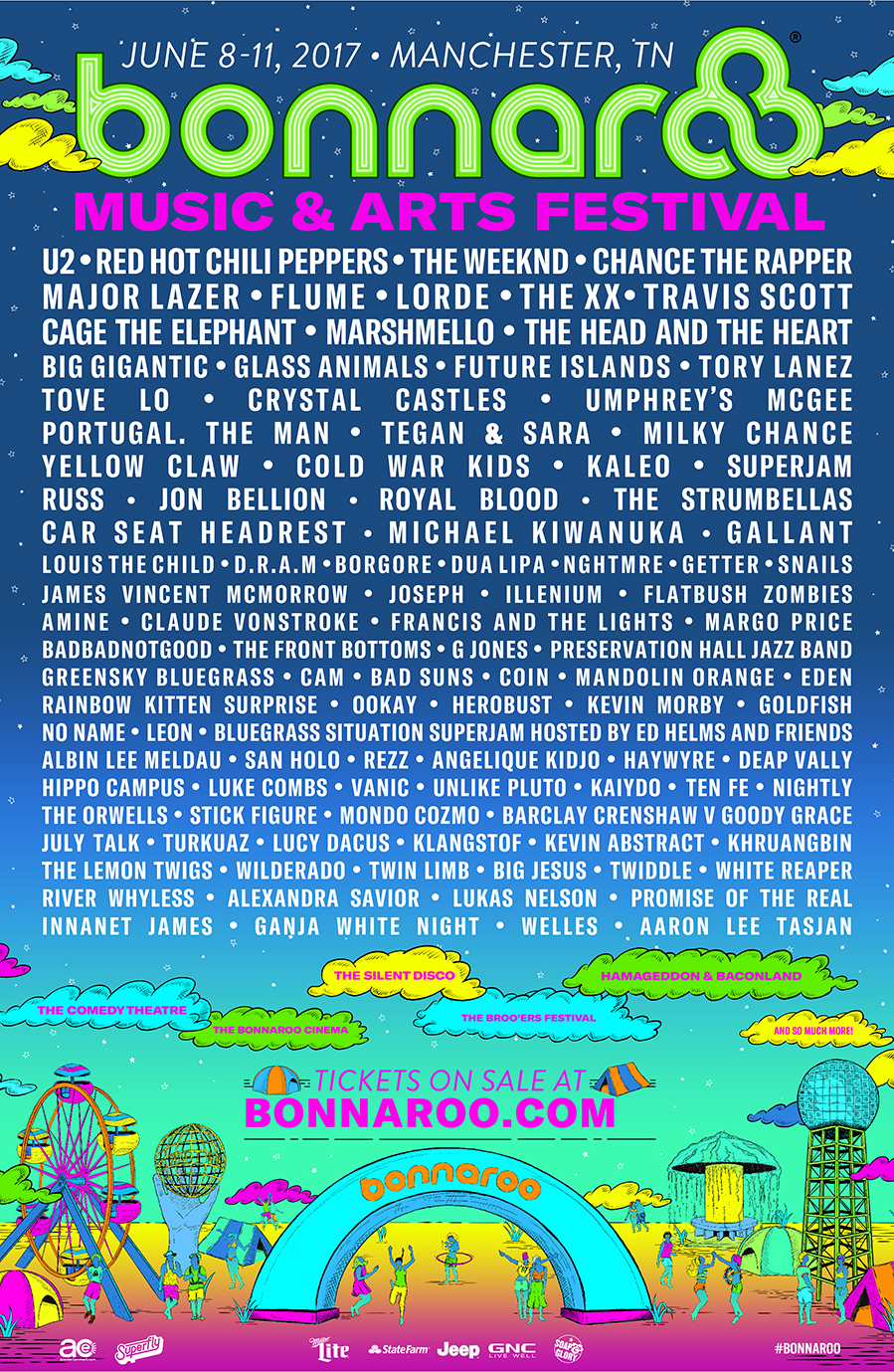 Red Hot Chili Peppers, Cage the Elephant, More Announced For 2017 Bonnaroo Music Festival