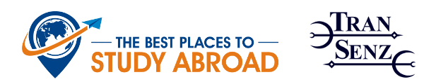 the best places to study abroad and Transenz logos