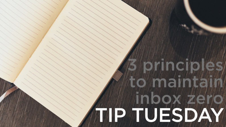 3 principles to maintain inbox zero