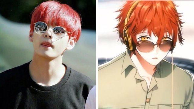 v BTS mirip dengan 707 mystic messenger - Wow, Para Idol K-Pop ini Mirip Banget Dengan Karakter Anime