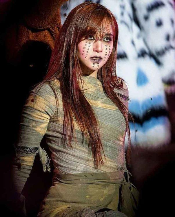kstum hallowen idol kpop mina twice 604x750 - Seram & Lucu! Deretan Kostum Halloween Idol KPop Terbaik dan Terbaru