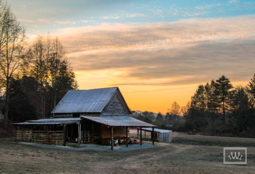 Sunrise Over Old Barn in Franklin NC 28734
