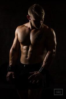 Personal Trainer Dramatic Lighting Portrait