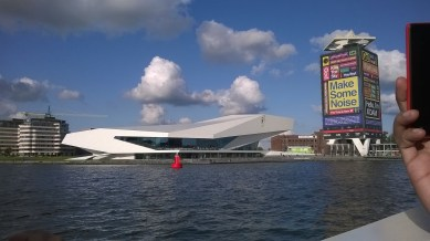 "when three architects went on a city tour, ""i think it's Zaha Hadid.."" #Amsterdam 