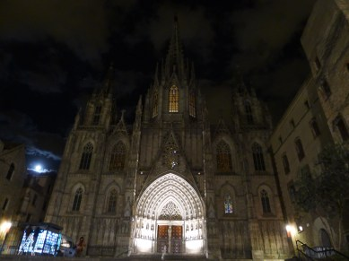 the cathedral by night.
