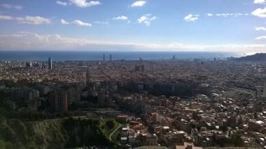 can you see? can you see? Torre Agbar & La Sagrada Familia afar!