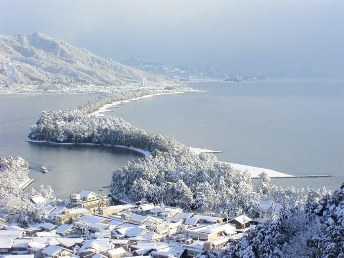 天橋立雪景