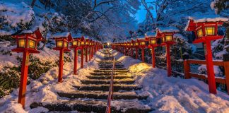 貴船神社,冬