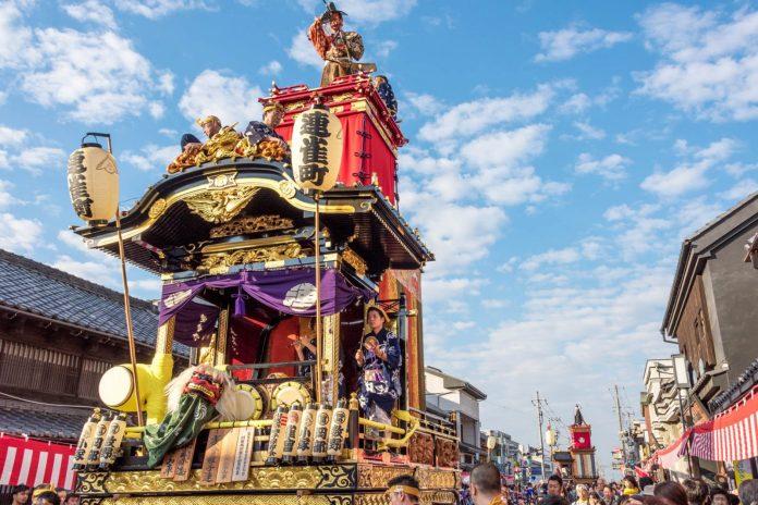 川越祭 白天