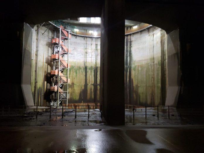 首都圈外郭放水路 階梯