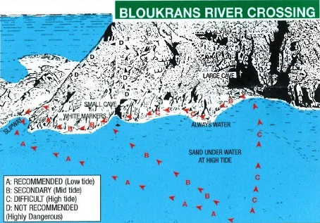 Otter Trail Bloukrans River Crossing Routes on Map