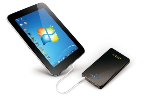 portable powerpack to tablet