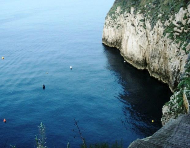 Outside blue grotto, Anacapri