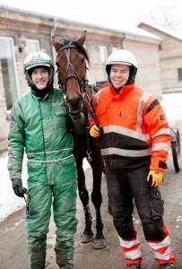 Michael Aling og træner Kenneth Nielsen. Foto Peter Sørensen