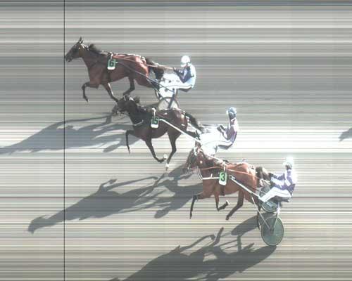 Ude i banen speder Royal Ice frem efter en ret griv startfejl og vinder foran Sejr Gammelsbæk og Timber Mile.