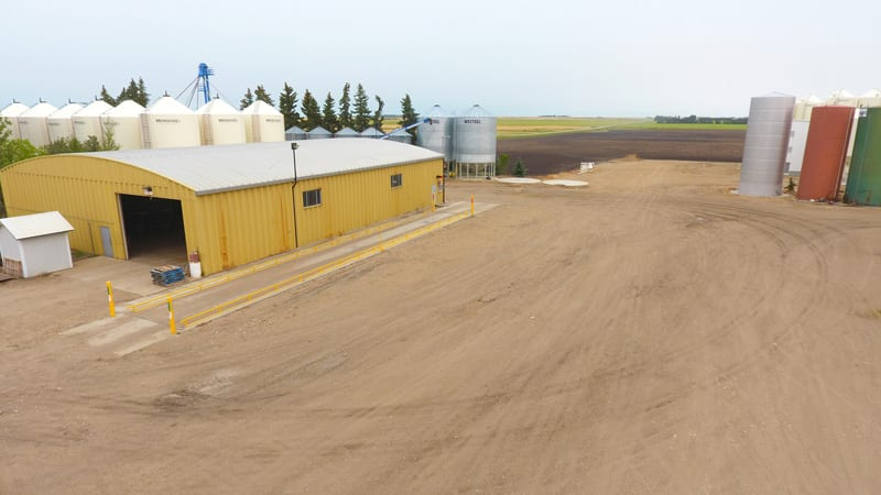 Trawin Seeds 100 ft scale for weight grain trucks