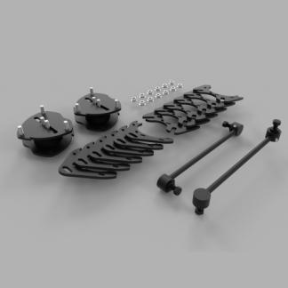 Kit #202034 – 2017-2021 Honda Ridgeline 2wd/4wd/AWD/ 2016-2021 Pilot/ 2019-2021 Passport – 2″ Front 1.5″ Rear Lift Kit
