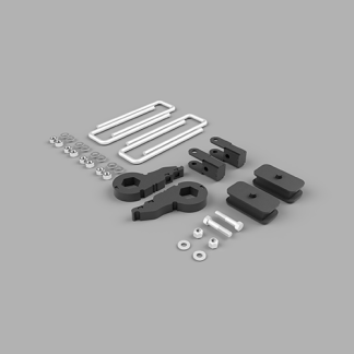 Kit #404045 – 2003-2017 Chevrolet Express 1500 4×4/AWD ONLY – Front And Rear Lift Kit