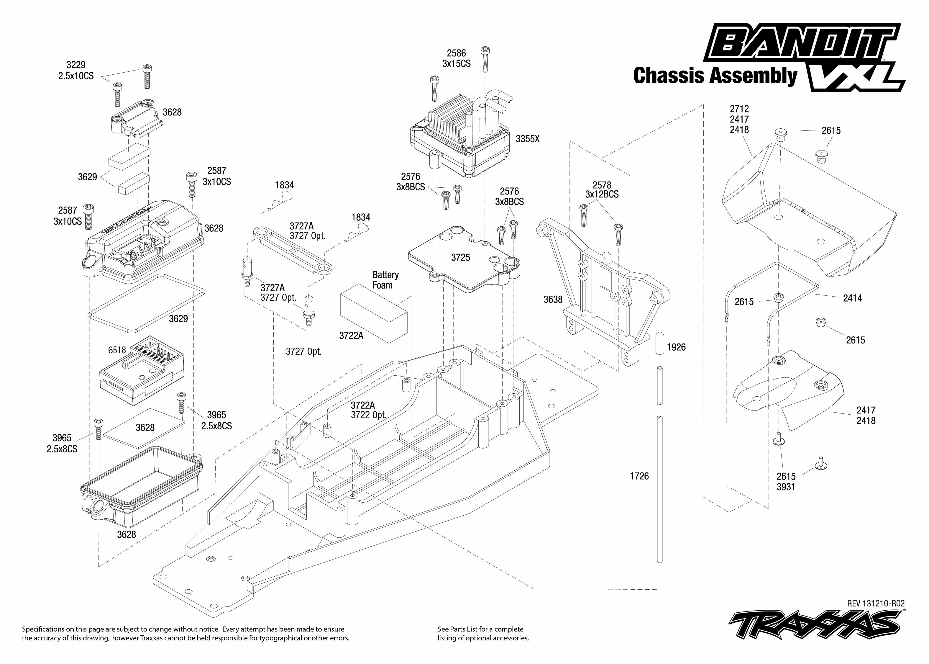 Chassis Exploded View Bandit Vxl