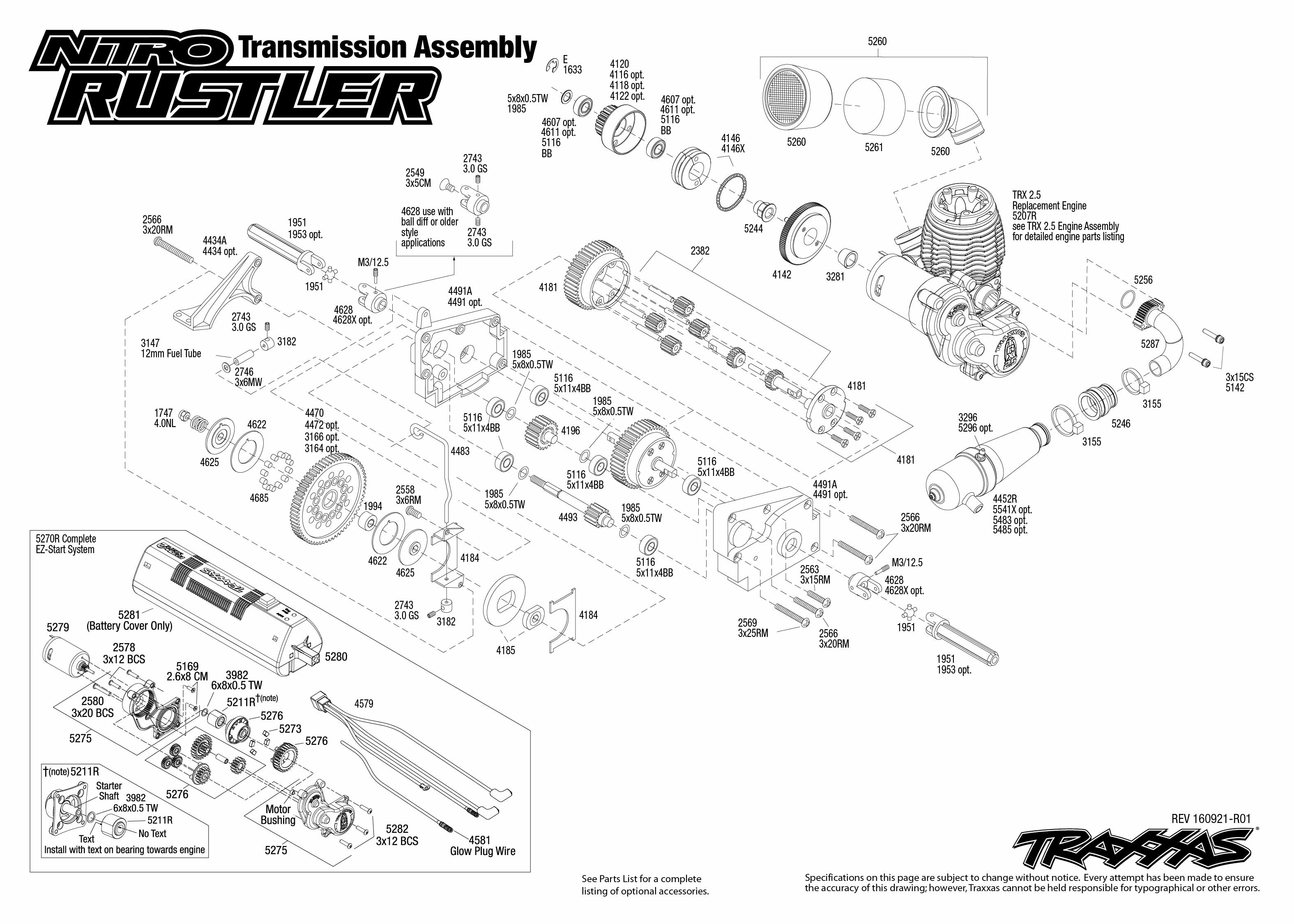 Nitro Rustler 3 Transmission Assembly
