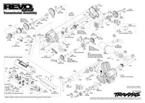 Revo 33 (530971) Transmission Assembly Exploded View