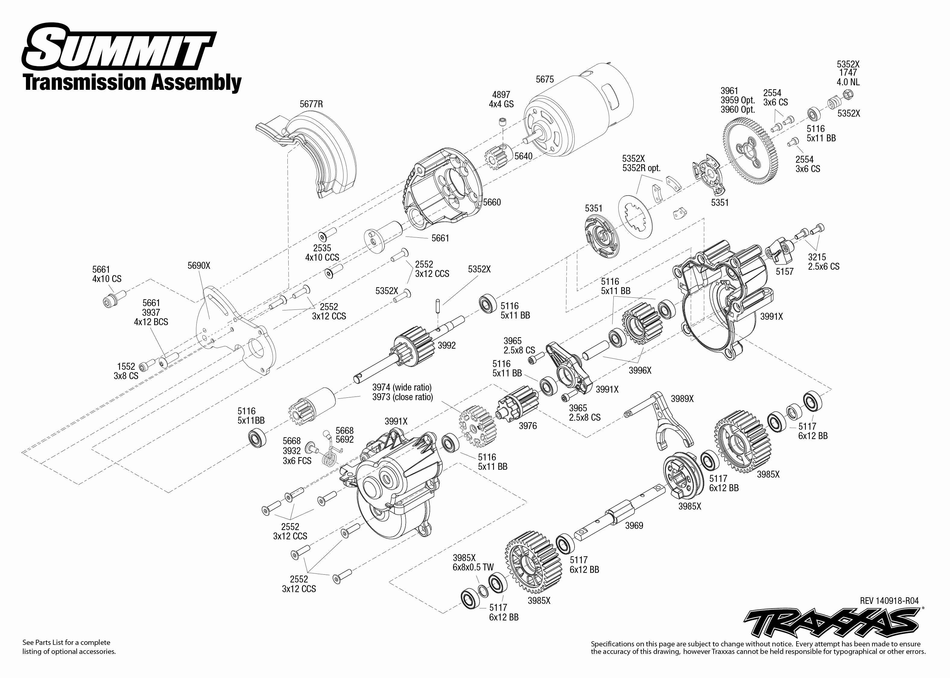 Transmission Exploded View Summit With Tqi 2 4ghz