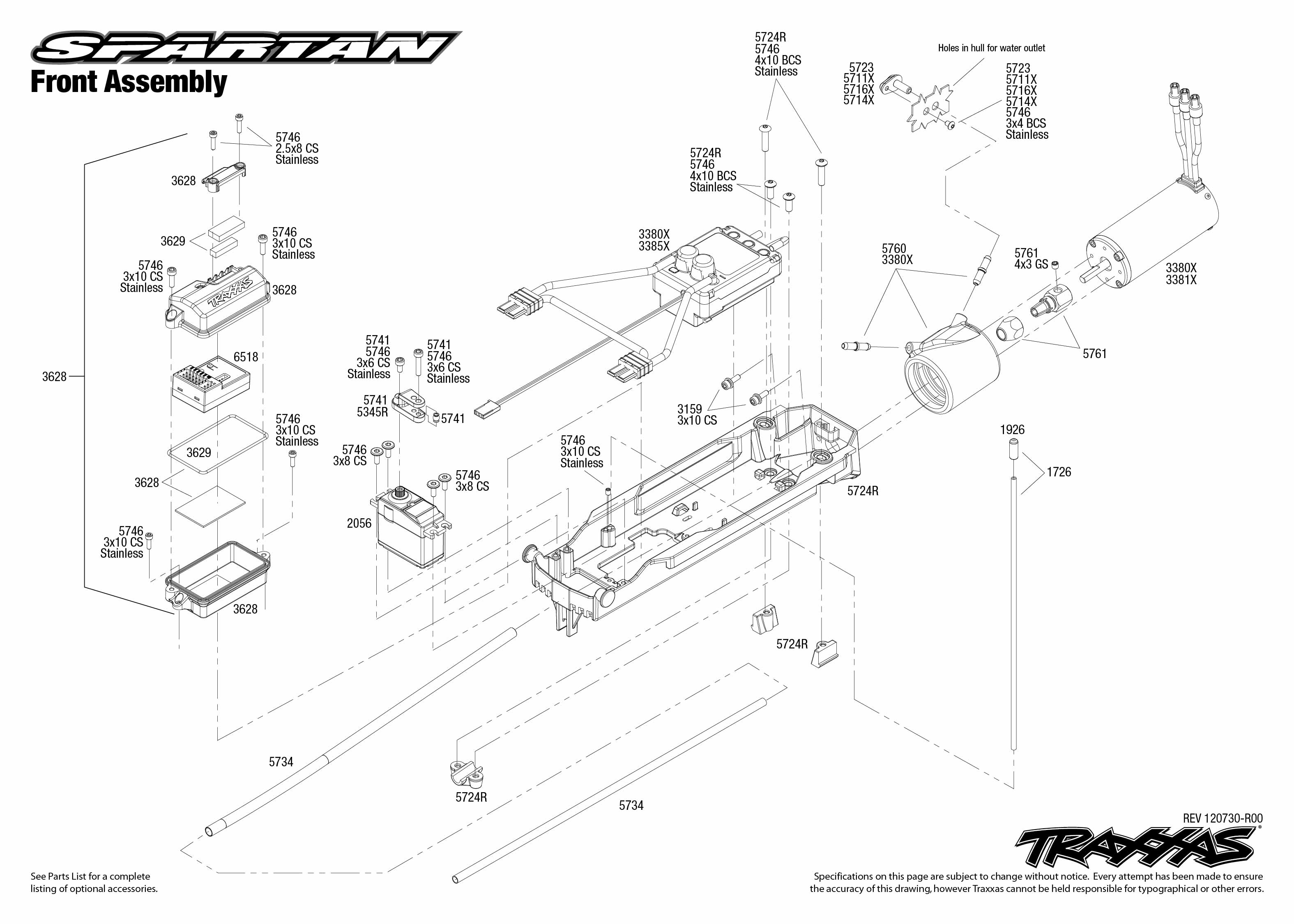 Front Exploded View Spartan Vxl 6s Powered By