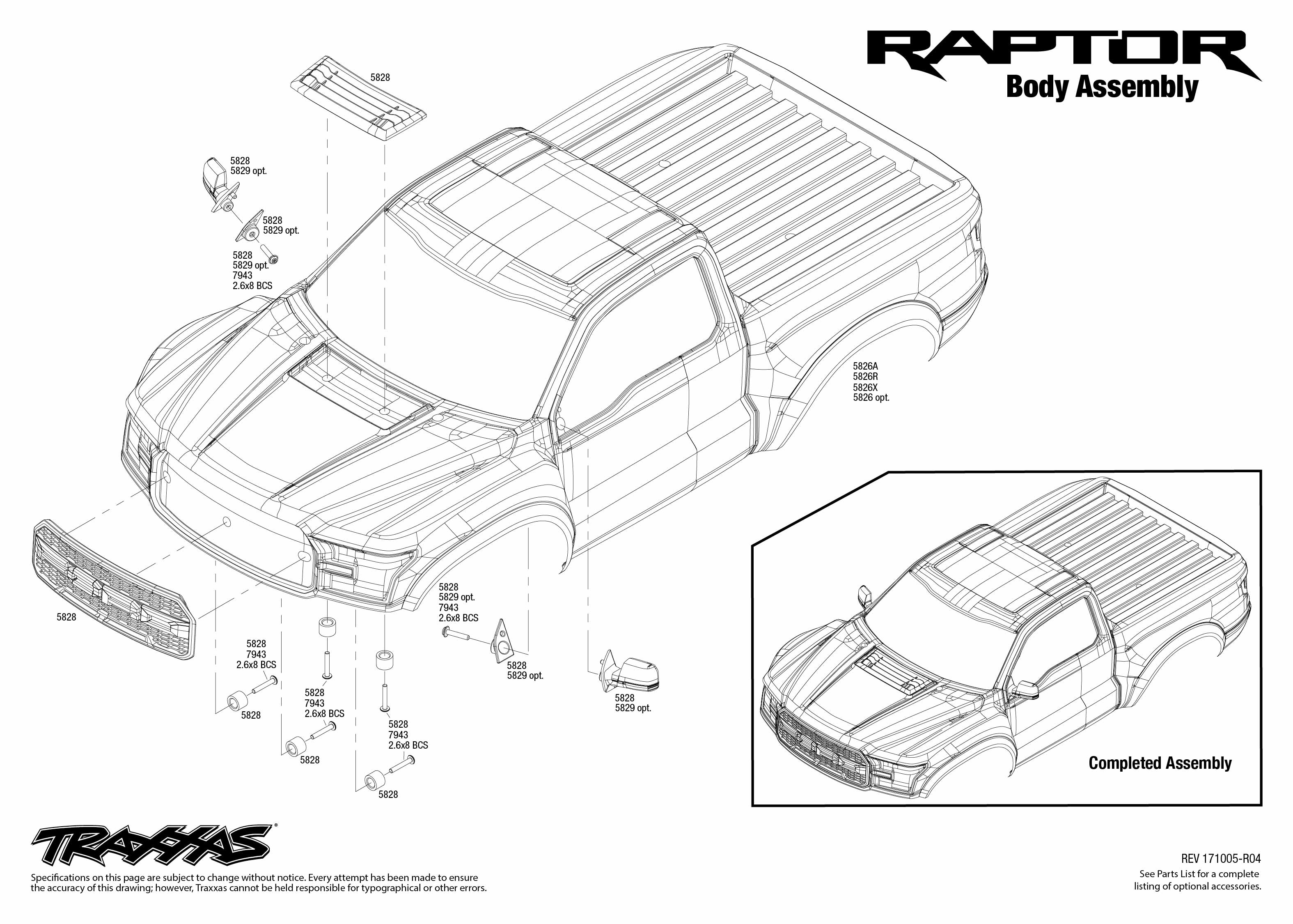 Ford F 150 Raptor 1 Body Assembly Exploded View