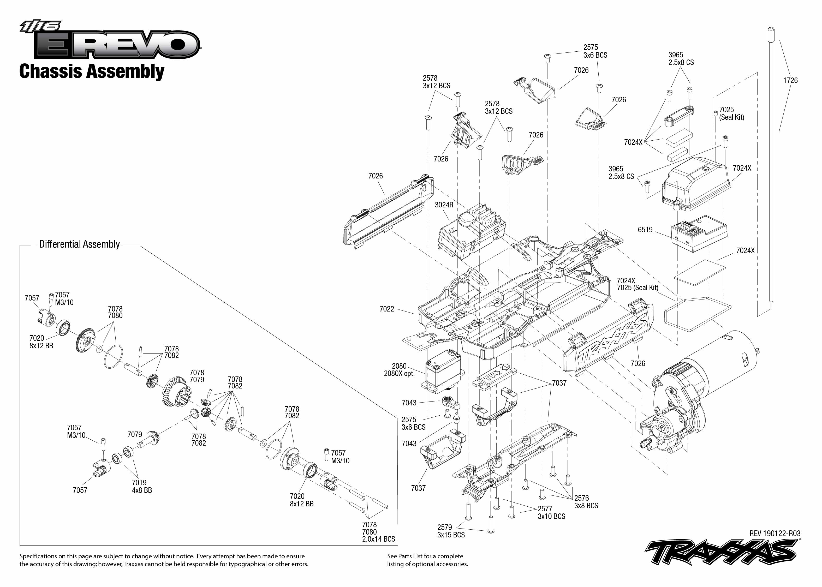 1 16 E Revo Chassis Assembly