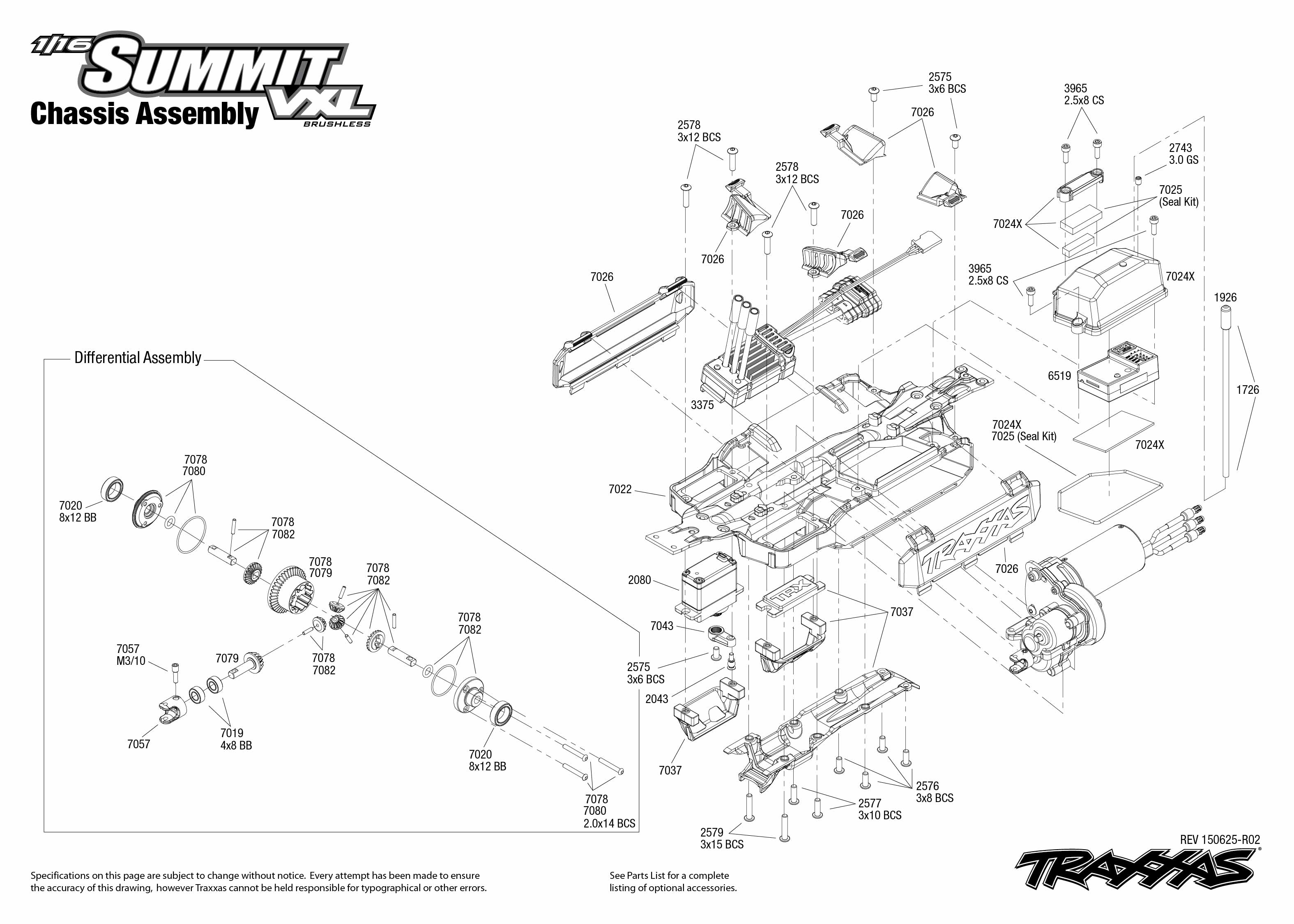 1 16 Summit Vxl 1 Chassis Assembly Exploded View