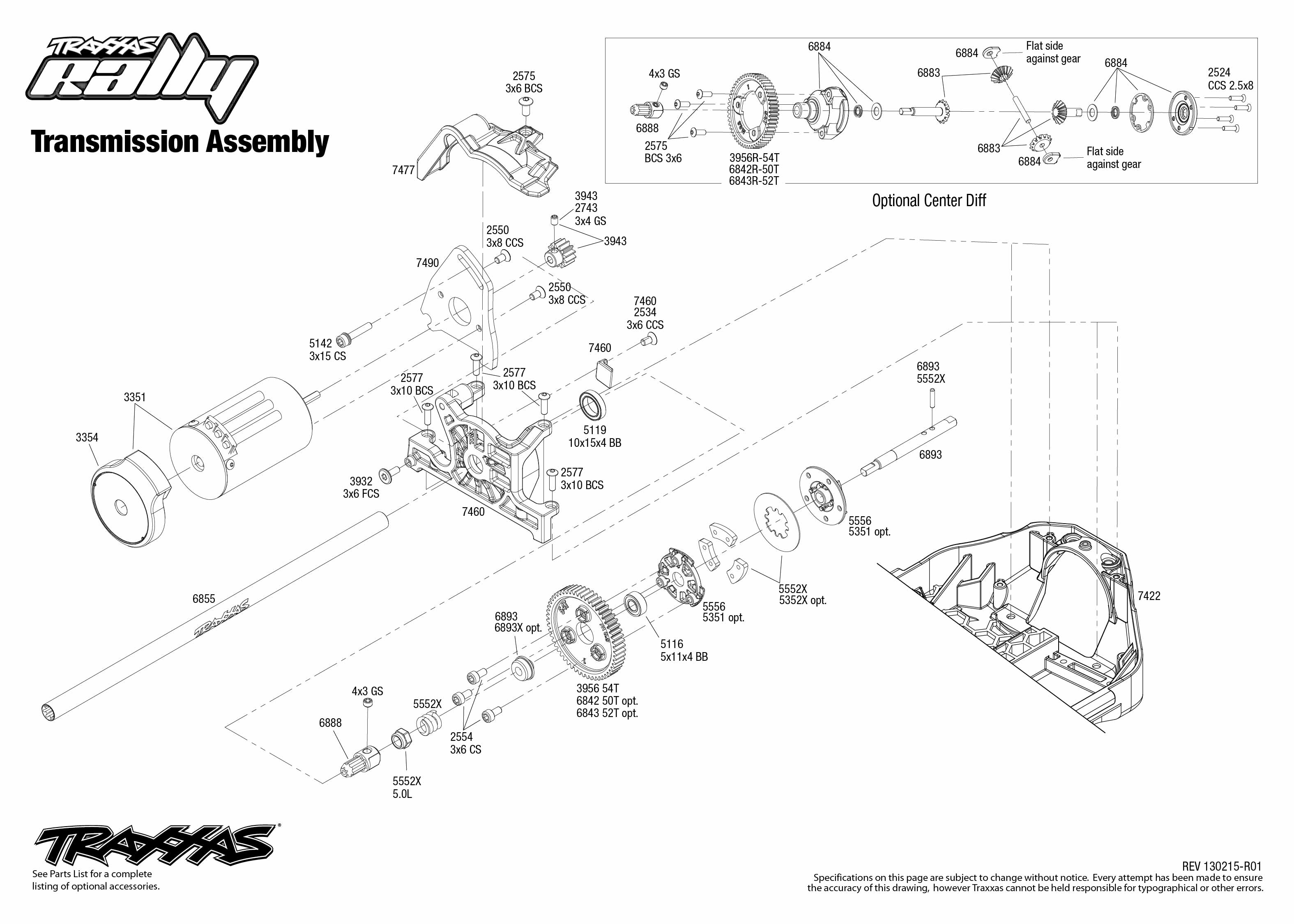 Transmission Exploded View Rally