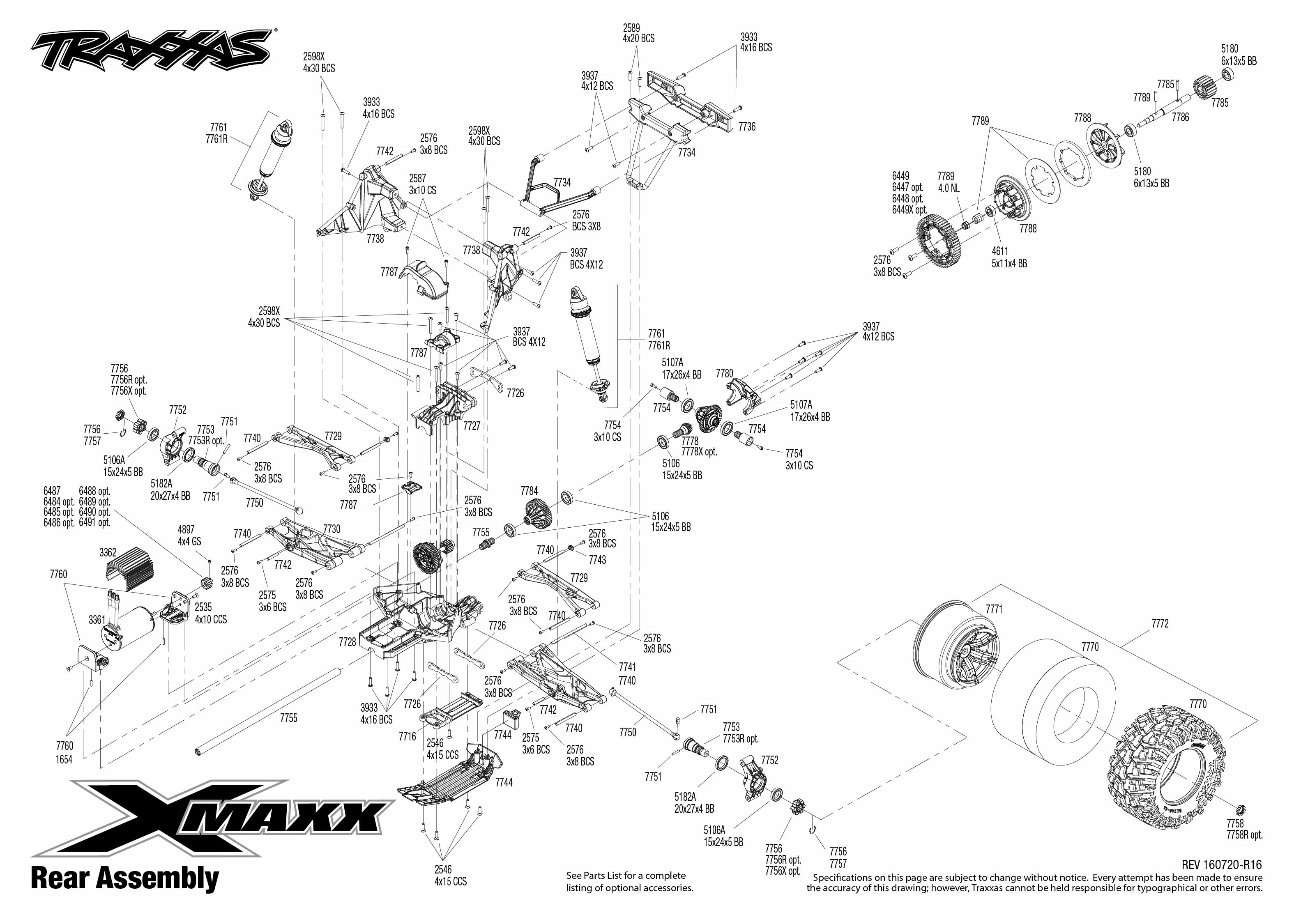 traxxas e revo exploded view