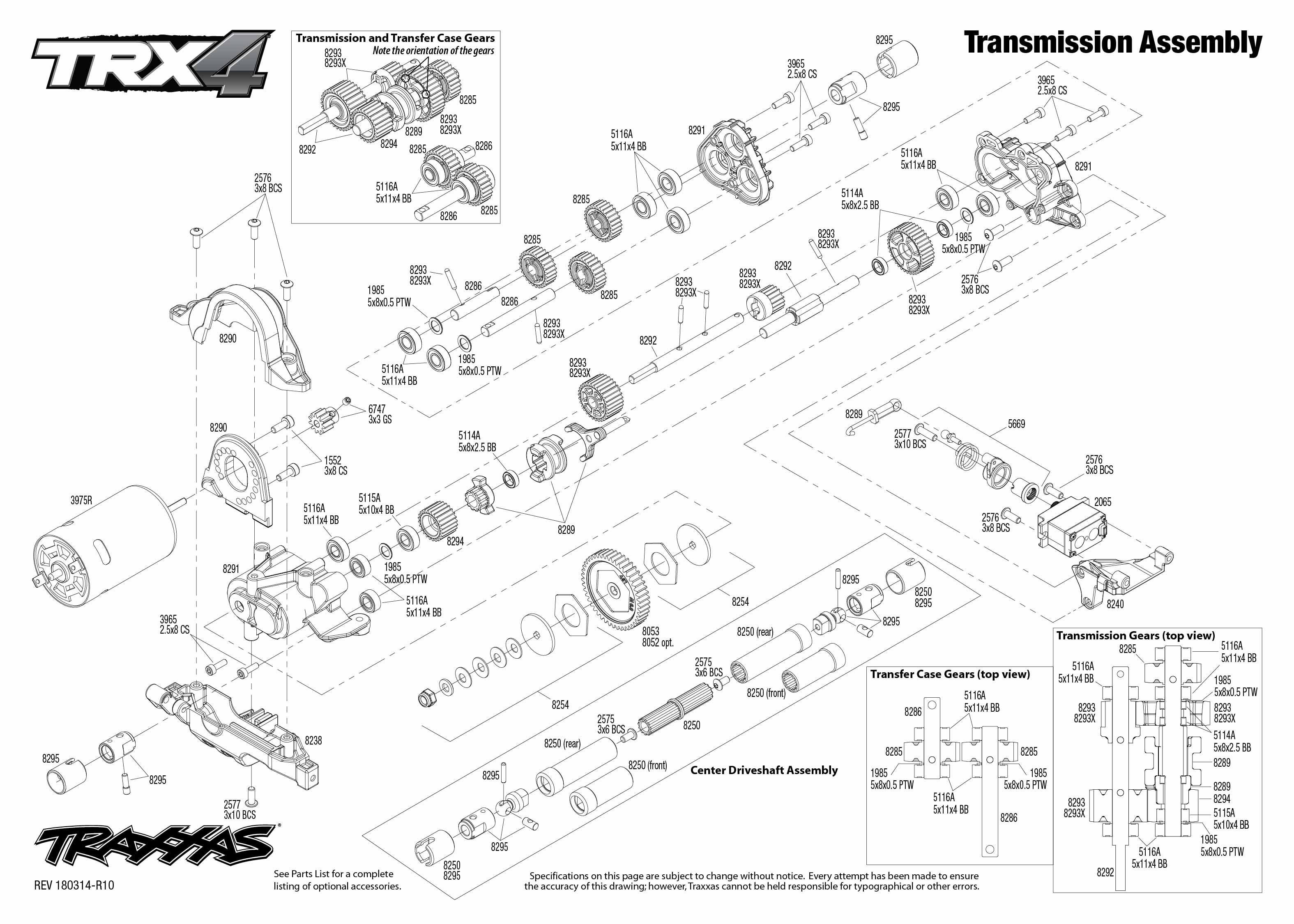 Trx 4 Scale And Trail Crawler 4 Transmission