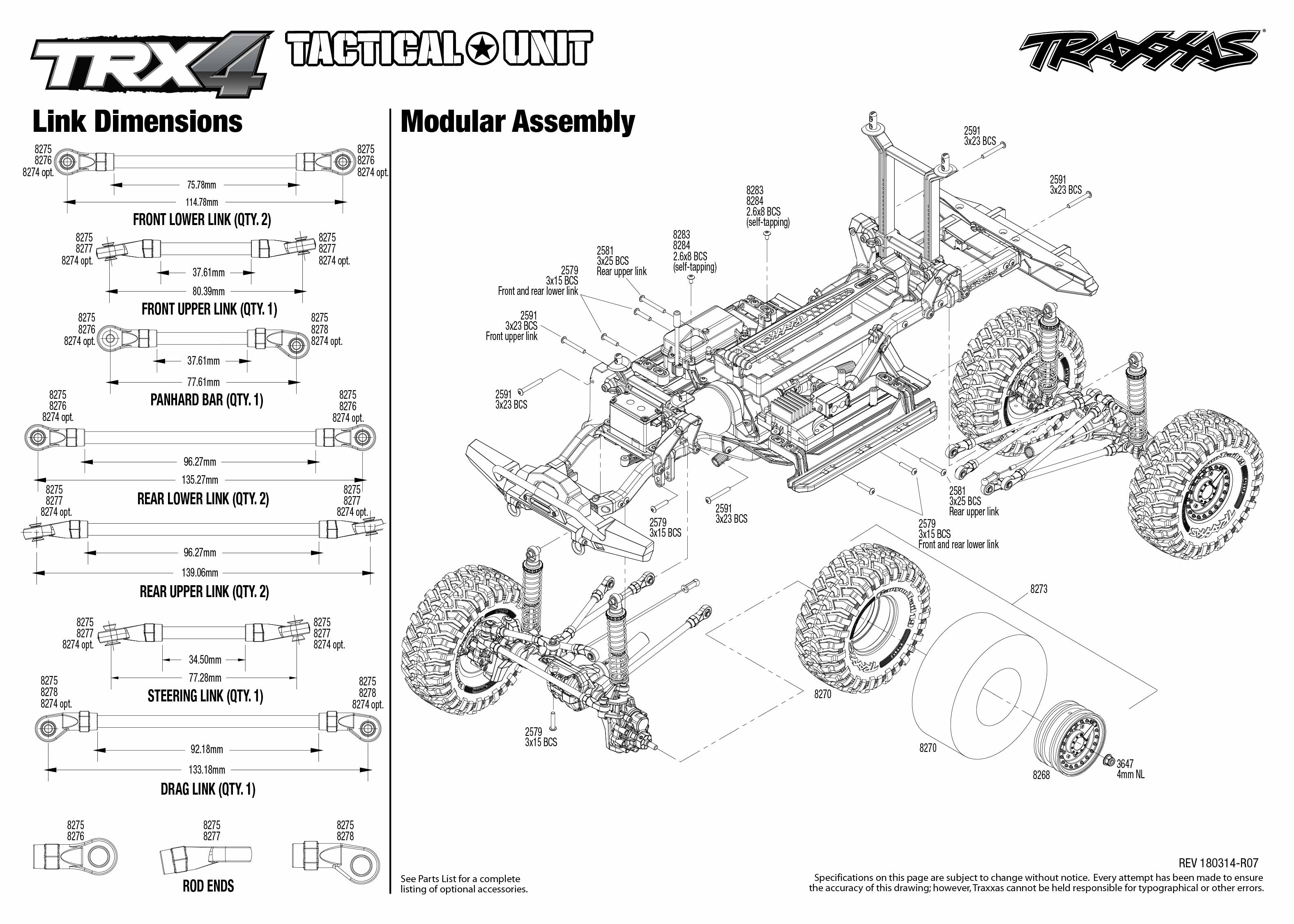 Trx 4 Tactical Unit 4 Modular Assembly Exploded View