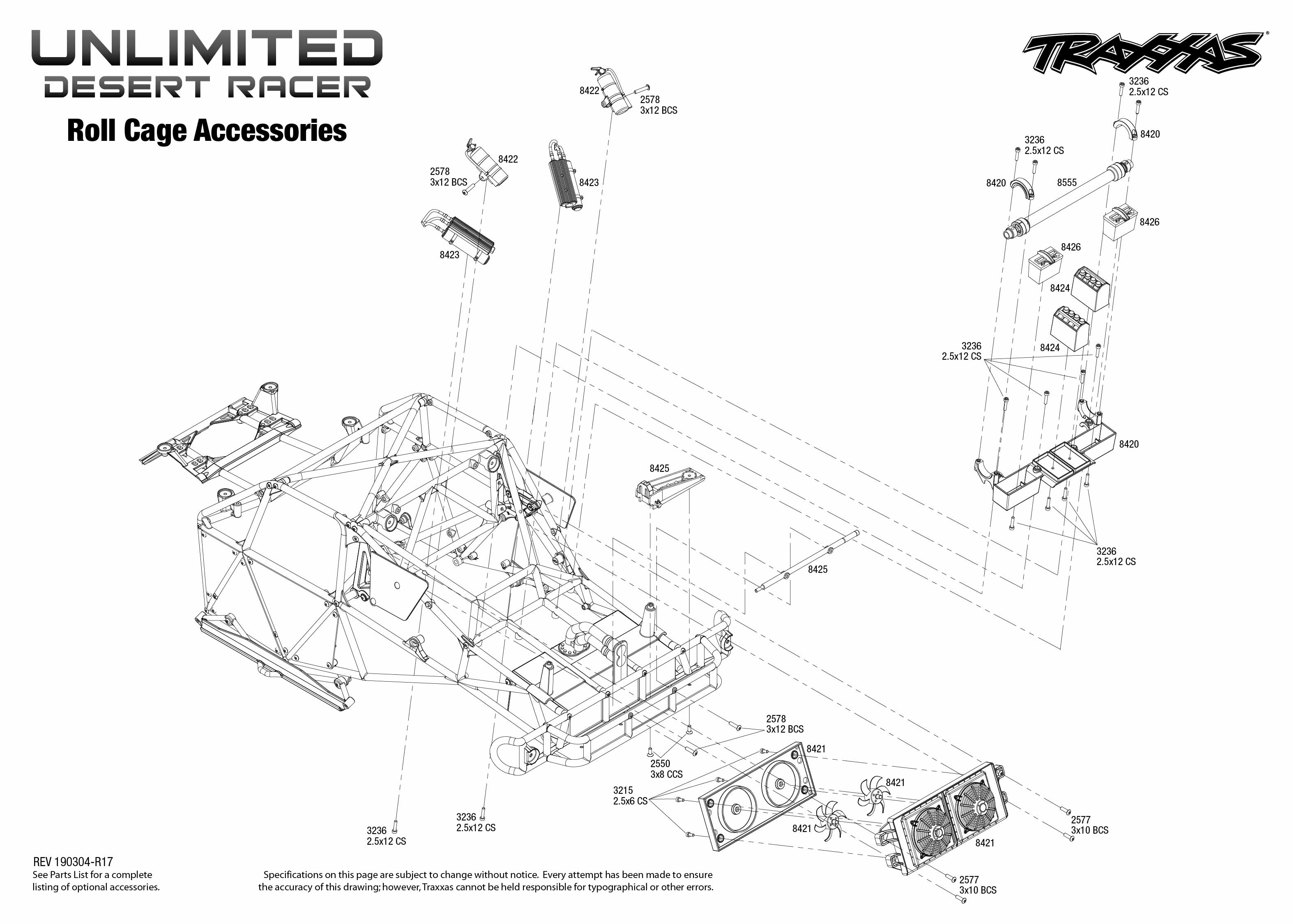 Unlimited Desert Racer 4 Roll Cage Accessories