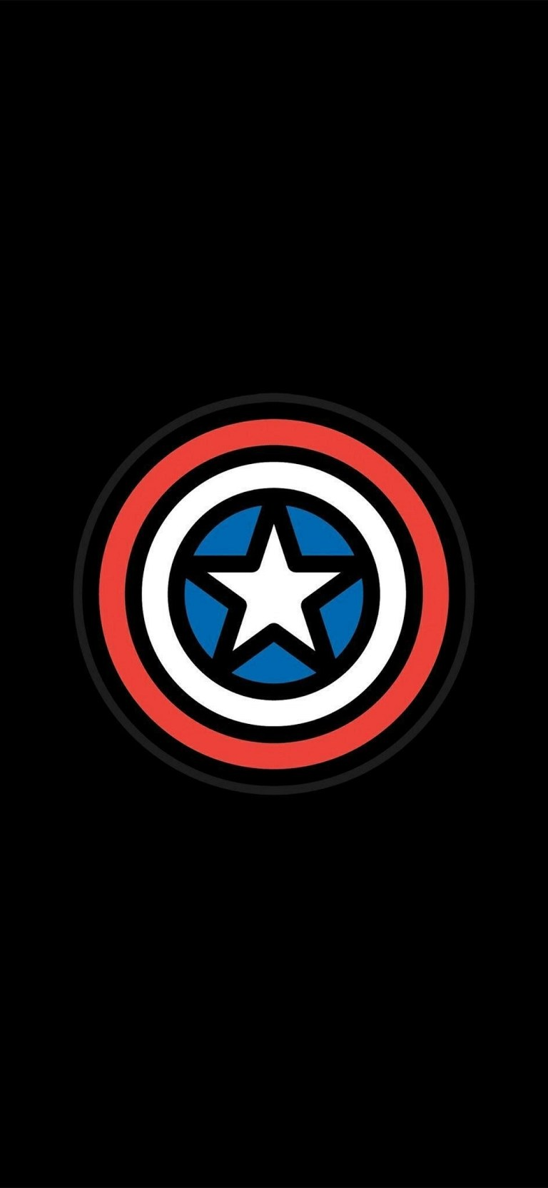 Captain America Shield Amoled 4K Wallpapers Download Free