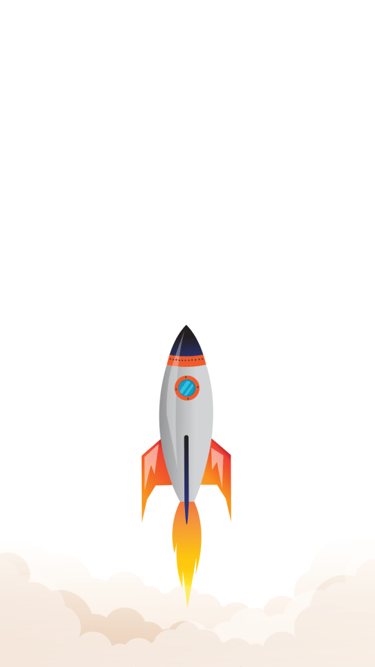Minimalistic Rocket iPhone 12 Background Wallpapers Download