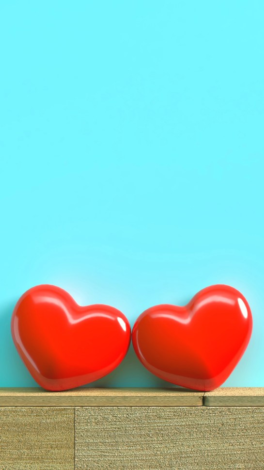 Two Red Hearts Xiaomi Mi A3 Love Wallpapers Best Collection