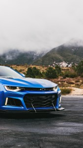 Blue Chevrolet Camaro iPhone HD Wallpapers Download