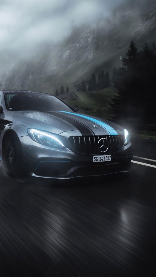 Benz AMG Realme 7 HDqWalls.com Wallpapers Download
